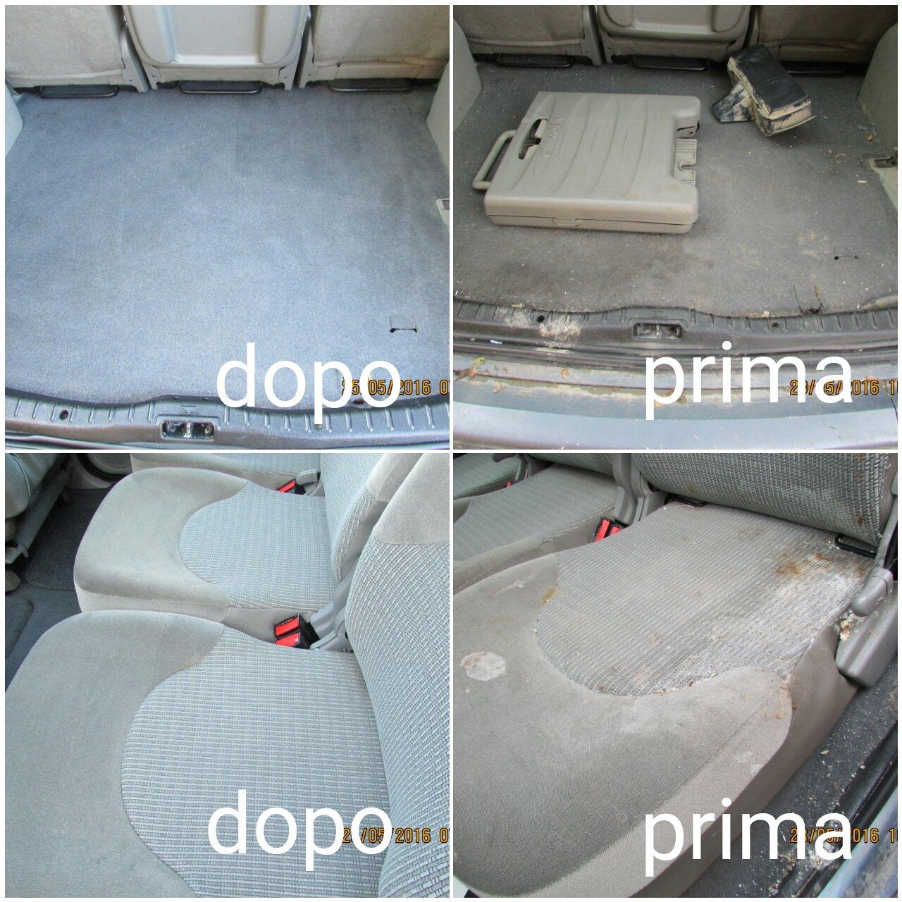 lavaggio sedili e tappezzeria baule auto